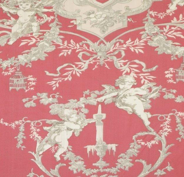Ткань Cherubin rouge, ширина 110см, в упаковке 1м, 100% хлопок, коллекция Les rouges et roses /Изысканно-красный/. BCH.36BAO.17Ткань Cherubin rouge, ширина 110см, в упаковке 1м,100% хлопок, коллекция Les rouges et roses /Изысканно-красный/