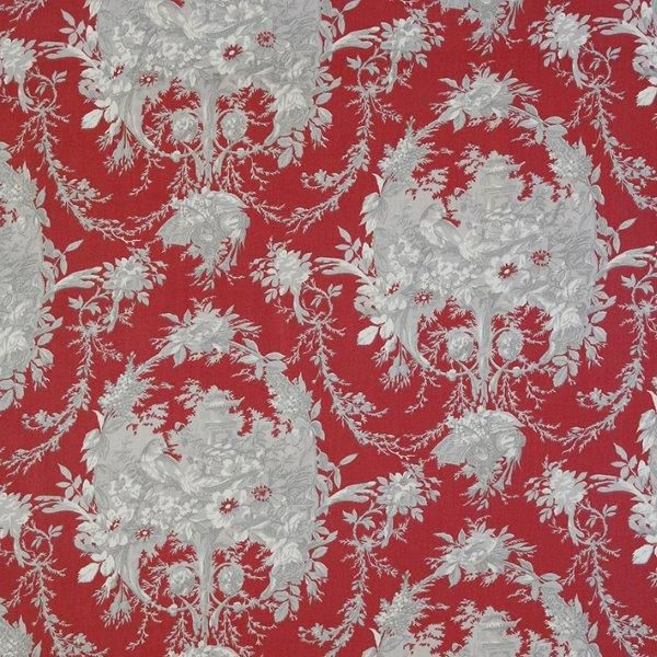 Ткань Melanie rouge, ширина 110см, в упаковке 1м, 100% хлопок, коллекция Les rouges et roses /Изысканно-красный/. BME.RYBDOT.PYТкань Melanie rouge, ширина 110см, в упаковке 1м,100% хлопок, коллекция Les rouges et roses /Изысканно-красный/