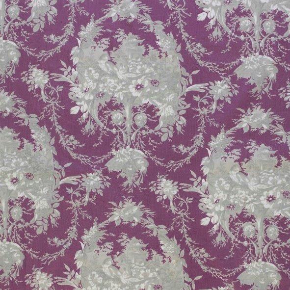 Ткань Melanie violet, ширина 110см, в упаковке 1м, 100% хлопок, коллекция Les violets /Благородно-фиолетовый/. BME.PYBDOT.PYТкань Melanie violet, ширина 110см, в упаковке 1м,100% хлопок, коллекция Les violets /Благородно-фиолетовый/