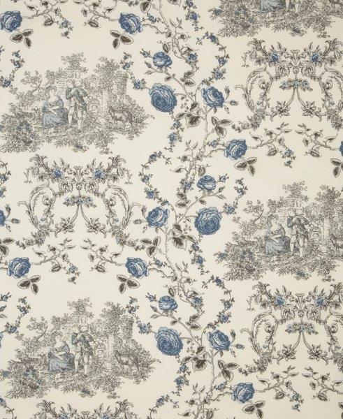 Ткань Princess ivoire, ширина 110см, в упаковке 1м, 100% хлопок, коллекция Les bleus /Небесно-голубой/. BPS.10SS 4041Ткань Princess ivoire, ширина 110см, в упаковке 1м,100% хлопок, коллекция Les bleus /Небесно-голубой/