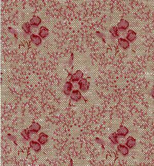 Ткань Rosine Chambray, ширина 110см, в упаковке 1м, 100% хлопок. BRNE.CHK7709264_ белый/красныйТкань Rosine Chambray, ширина 110см, в упаковке 1м,100% хлопок