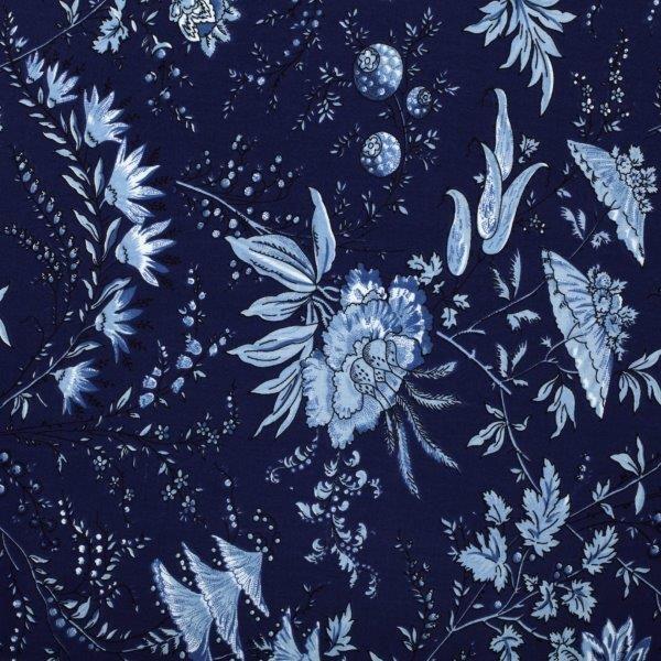 Ткань Sati indigo, ширина 110см, в упаковке 1м, 100% хлопок, коллекция Les bleus /Небесно-голубой/. BSAT.INBRSP-202SТкань Sati indigo, ширина 110см, в упаковке 1м,100% хлопок, коллекция Les bleus /Небесно-голубой/