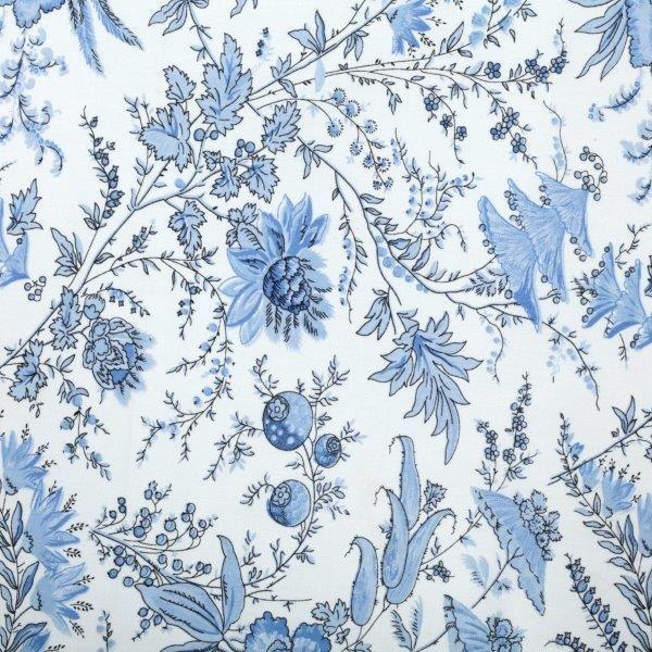 Ткань Sati ivoire, ширина 110см, в упаковке 1м, 100% хлопок, коллекция Les bleus /Небесно-голубой/. BSAT.IB7716595Ткань Sati ivoire, ширина 110см, в упаковке 1м,100% хлопок, коллекция Les bleus /Небесно-голубой/