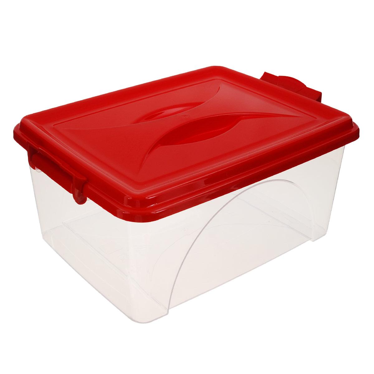 Контейнер Альтернатива, цвет: красный, 11,5 лPANTERA SPX-2RSКонтейнер Альтернатива выполнен из прочного пластика. Он предназначен для хранения различных мелких вещей. Крышка легко открывается и плотно закрывается. Прозрачные стенки позволяют видеть содержимое. По бокам предусмотрены две удобные ручки, с помощью которых контейнер закрывается.Контейнер поможет хранить все в одном месте, а также защитить вещи от пыли, грязи и влаги.