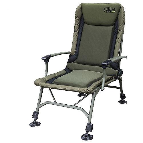 Кресло карповое Norfin Lincoln NF, цвет: хаки, 52,5 см х 52 см х 103 смNFL-20204Кресло складное Norfin Lincoln NF - это отличный выбор для рыболовов. Выполнено из прочного полиэстера. Имеет легкий алюминиевый каркас. Наклон спинки регулируется. Кресло оснащено ножками с возможностью независимой регулировки высоты и широкими опорами. Имеется удобный мягкий подголовник. Кресло легко складывается и переносится.Максимальная нагрузка: 140 кг.