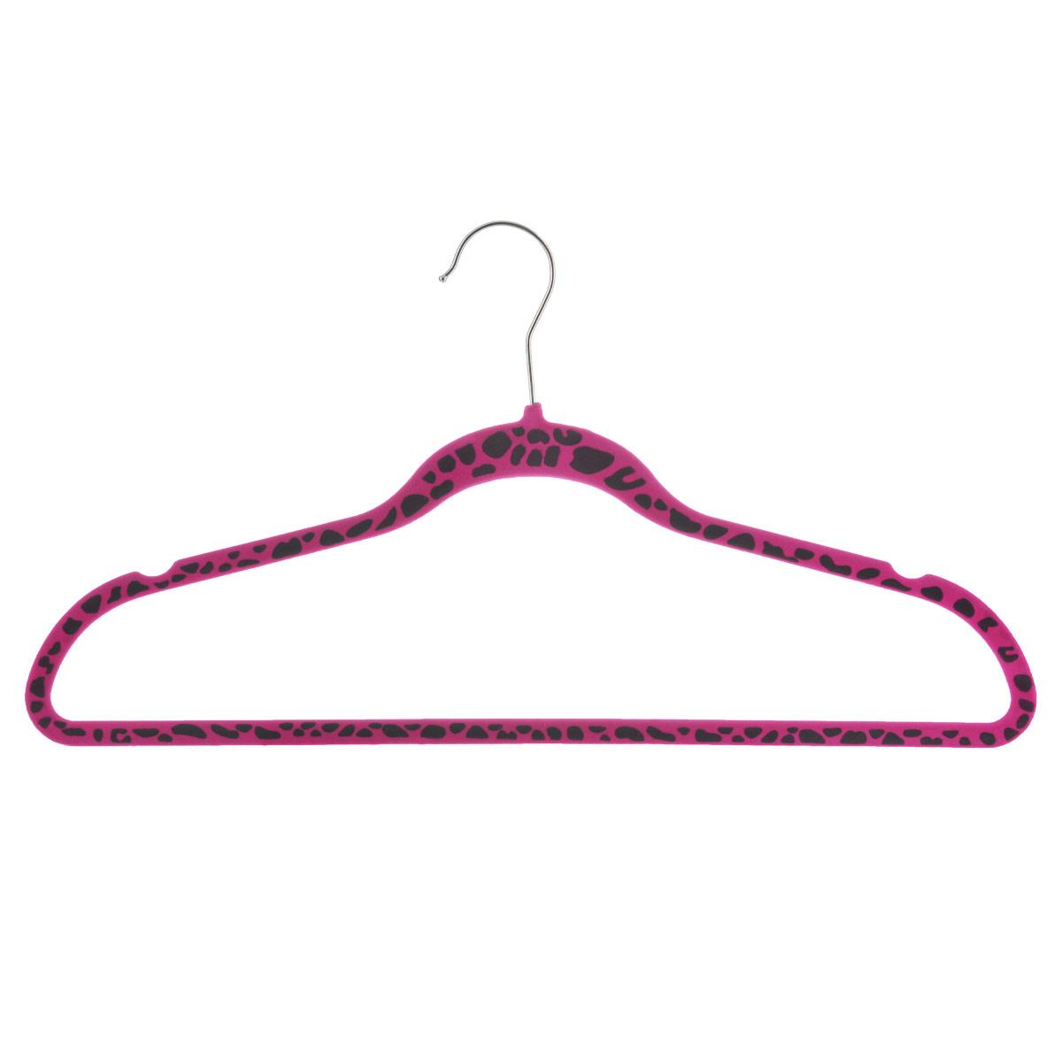 Вешалка для одежды Flatel Сафари, цвет: розовый, черный, размер 50-52BL-1BВешалка Flatel Сафари выполнена из ABS-пластика, обтянута бархатистой тканью флок. Вешалка оснащена перекладиной, удобным металлическим крючком, а также выемками для петелек одежды.Вешалка - это незаменимая вещь для того, чтобы ваша одежда всегда оставалась в хорошем состоянии. Размер одежды: 50-52.