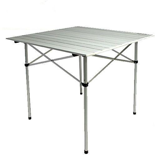 Стол складной Norfin Glomma-S NF Alu, цвет: серый, 70 см х 70 см х 70 см