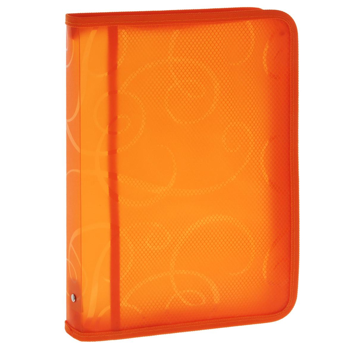 Centrum Папка на молнии цвет оранжевыйFS-54100Папка для тетрадей Centrum - это удобный и функциональный офисный инструмент, предназначенный для хранения и транспортировки рабочих бумаг и документов формата А4, а также тетрадей и канцелярских принадлежностей.Папка изготовлена из прочного высококачественного пластика, закрывается на круговую застежку-молнию. Папка состоит из одного отделения, внутри расположен открытый карман-сеточка. Папка оформлена оригинальным принтом в виде спиралей. Папка имеет опрятный и неброский вид. Края папки отделаны полиэстером, а уголки имеют закругленную форму, что предотвращает их загибание и помогает надолго сохранить опрятный вид обложки.Папка - это незаменимый атрибут для любого студента, школьника или офисного работника. Такая папка надежно сохранит ваши бумаги и сбережет их от повреждений, пыли и влаги.
