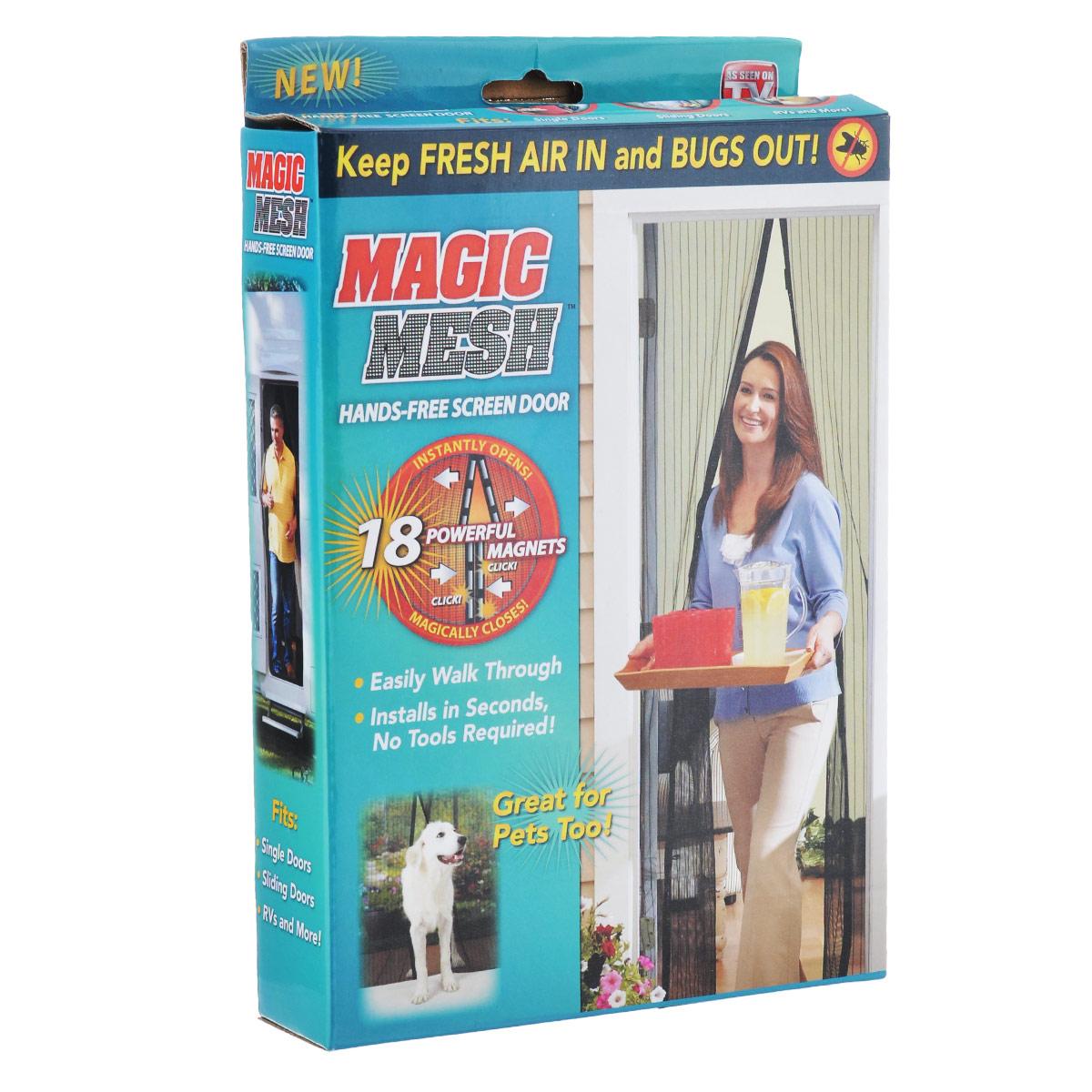 Сетка от насекомых Bradex Маскитофф, для дверей, цвет: черныйBH-SI0439-WWСетка для дверей насекомых Bradex Маскитофф выполнена из прочного полиэстера. Такая сетка встанет нерушимой преградой между вашим домом и насекомыми. Чтобы избавиться от комаров и мух, которые отравляют сон, не обязательно закрывать все двери и окна и задыхаться в доме от жары. С магнитной сеткой вы легко пройдете сквозь нее, даже если заняты руки. Благодаря 18 магнитам, вшитым в сетку, она магически захлопнется за вами. Bradex Маскитофф просто незаменим для владельцев животных. Вместо того, чтобы жалобно скрестить в дверь, ваш питомец сможет входить и выходить из помещения, когда пожелает. Для установки вам не потребуются ни гвозди, ни шурупы: сетка на липучке прочно крепится к любой двери и не отходит весь сезон, как бы часто вы ею ни пользовались. Впустите свежий воздух в ваш дом, оставив назойливых насекомых на улице с магнитной сеткой для дверей Bradex Маскитофф! Размер сетки: 100 см х 210 см.