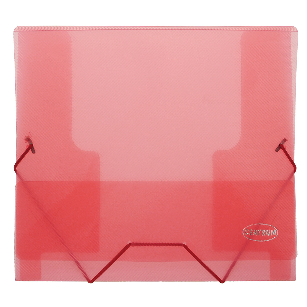 Папка-конверт на резинках Centrum, формат А5, цвет: красныйFS-36052Папка-конверт на резинке Centrum - это удобный и функциональный офисный инструмент, предназначенный для хранения и транспортировки рабочих бумаг и документов формата А5.Папка с двойной угловой фиксацией резиновой лентой изготовлена из износостойкого полупрозрачного полипропилена.Внутри папка имеет три клапана, что обеспечивает надежную фиксацию бумаг и документов. Оформлена тиснением в виде параллельной штриховки. Папка - это незаменимый атрибут для студента, школьника, офисного работника. Такая папка надежно сохранит ваши документы и сбережет их от повреждений, пыли и влаги.