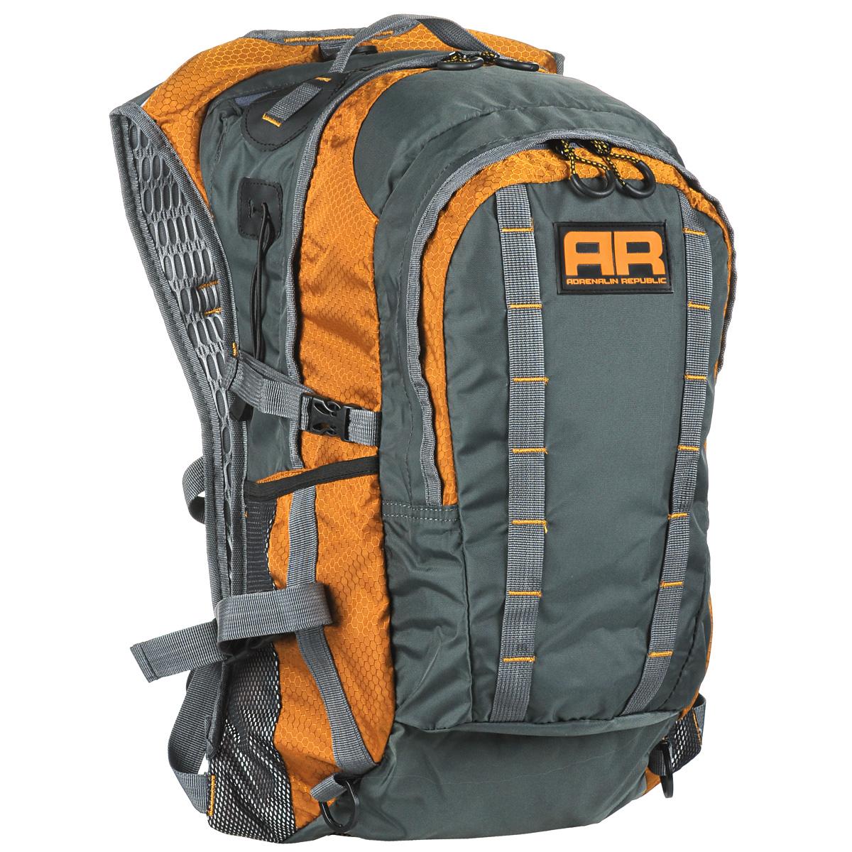 Рюкзак Adrenalin Republic Backpack XL, цвет: оранжевый, серый, 40 лNF-40203Рюкзак Adrenalin Republic Backpack XL – это легкий, вместительный и прочные рюкзак со множеством дополнительных карманов. Собрались на продолжительную рыбалку? Подвесная система рюкзака Adrenalin Republic Backpack XL не стесняет маневренность, а при помощи быстрой регулировки длины плечевых лямок вы равномерно распределите переносимый вес. Оригинальный дизайн, износостойкие материалы и удобная конструкция рыболовного рюкзака Adrenalin Republic Backpack XL означают комфорт и незабываемые дни, проведенные на рыбалке.