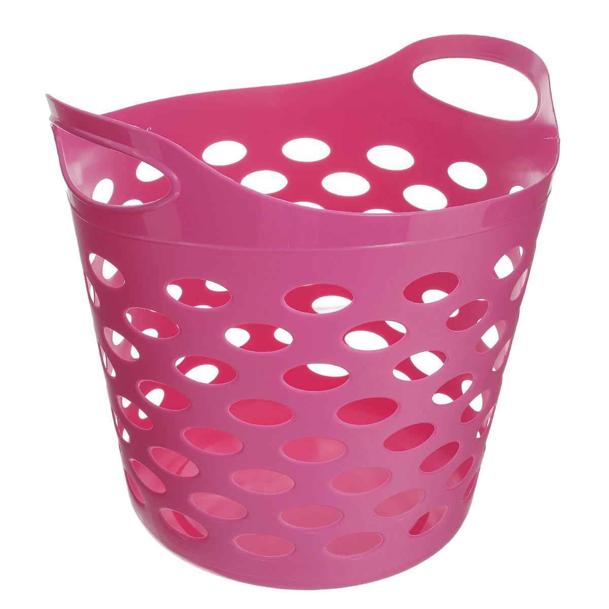 Корзина универсальная Gensini, цвет: розовый, 32 лS03301004Универсальная корзина Gensini отлично подойдет для хранения белья перед стиркой, игрушек и других вещей. Она выполнена из высококачественного мягкого пластика и оснащена двумя удобными ручками для переноски. Современный дизайн корзины позволит ей вписаться в любой интерьер, а благодаря своим компактным размерам она не займет много места. Диаметр корзины (без учета ручек): 37 см. Высота корзины (без учета ручек): 31 см. Высота корзины (с учетом ручек): 38 см. Объем корзины: 32 л.