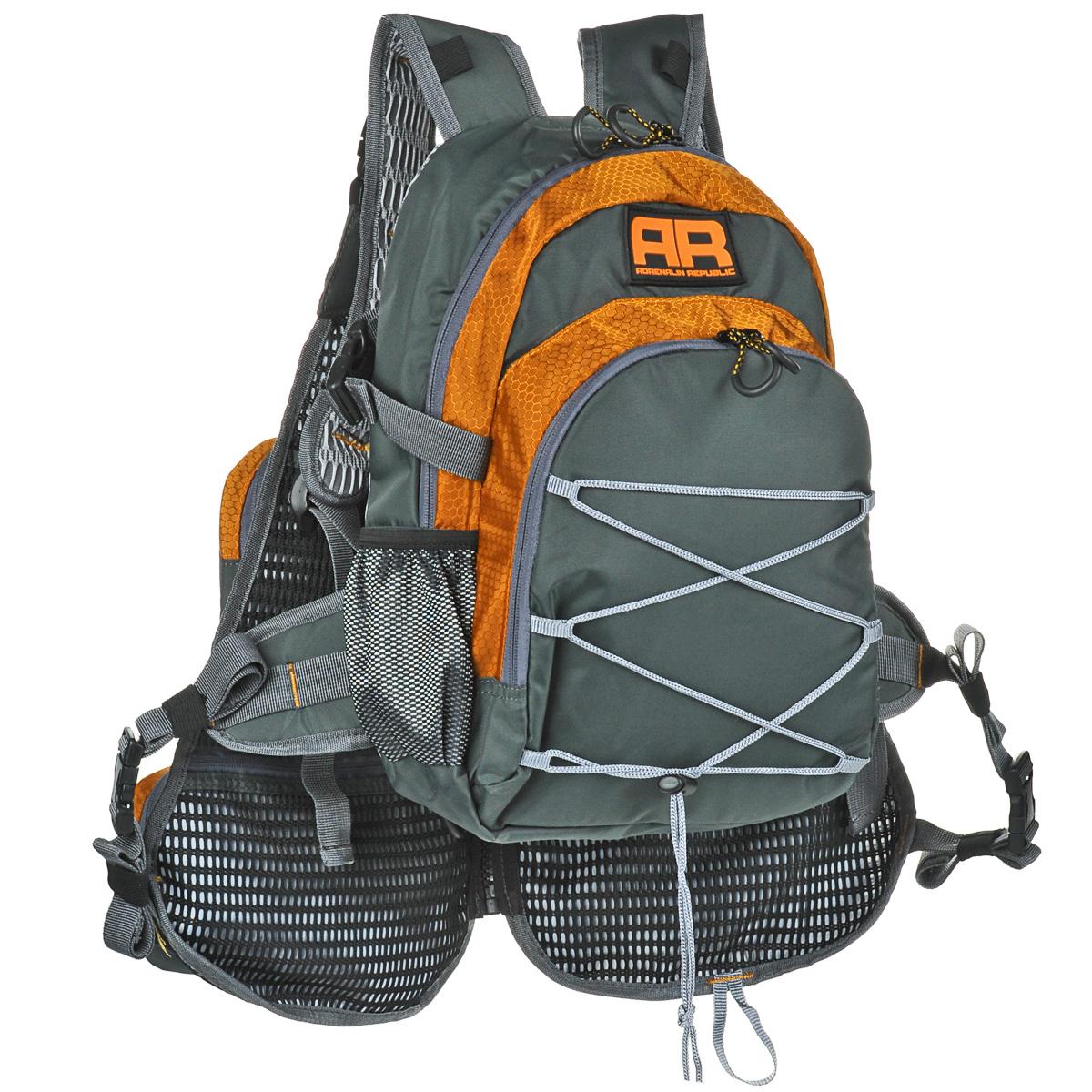 Рюкзак Adrenalin Republic Backpack Twin, с передним обвесом, цвет: оранжевый, серый, 15 л + 10 л стол adrenalin republic double top раскладной