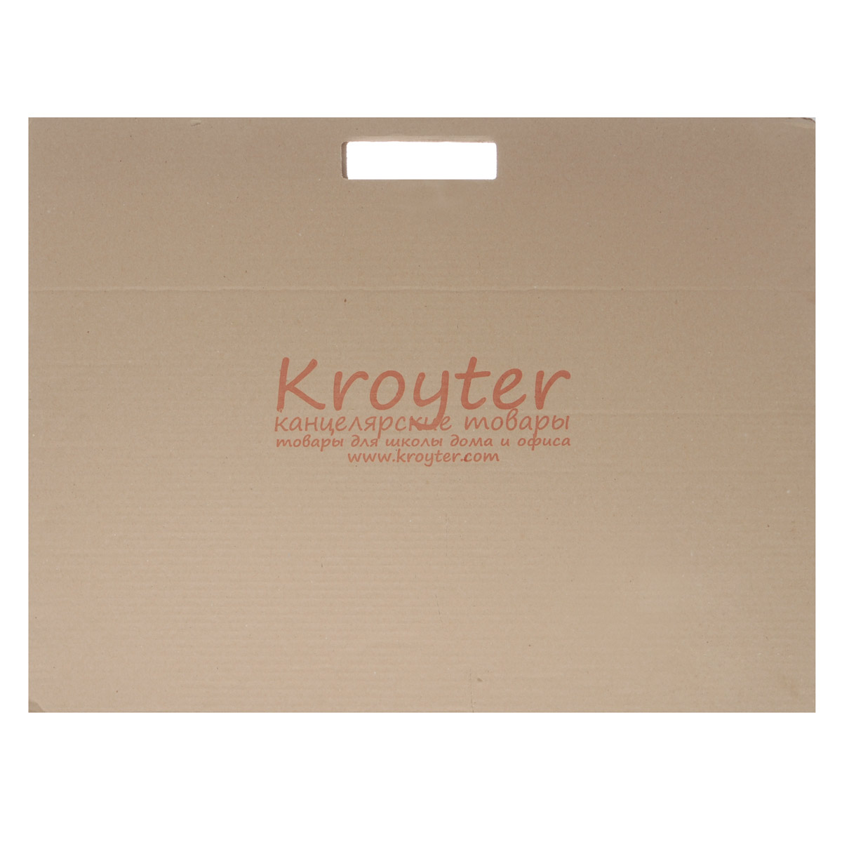 """Папка для черчения """"Kroyter"""" содержит 10 листов плотной бумаги, предназначенной для черчения и рисования водорастворимыми красками, карандашами, мелками, ручками. Не рекомендуется для масляных красок. Обложка выполнена из гофрированного картона в виде папки-переноски с ручками, такой вариант позволяет переносить бумагу без повреждений или хранить в ней уже выполненные работы. Формат: А2 (420 х 594)."""