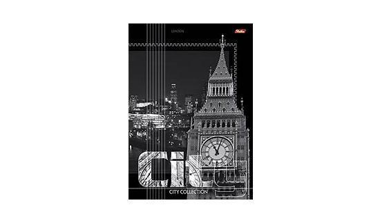 Тетрадь 96л А4ф линия на скобе серия -City Collection-, London72523WDТетради А4 на скобе 96 листов. Обложка – мелованный картон, скрепление – скоба.