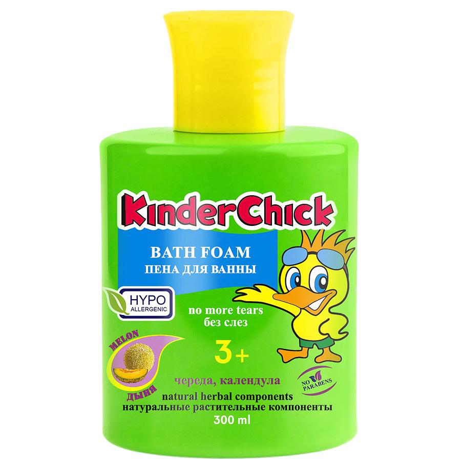 Kinder Chick Детская пена для ванны Дыня, 300 млFS-00897Детская пена для ванны Kinder Chick Дыня со вкусным ароматом дыни обязательно понравится вам и вашему ребенку. Пена содержит натуральные растительные экстракты календулы и череды. Без красителей и парабенов, pH-нейтральный. Гипоаллергенно. Разработана специально для мягкого очищения чувствительной детской кожи. Не раздражает кожу, не сушит её, формула без слез не щиплет глазки. Идеально подходит и для взрослых.Товар сертифицирован.