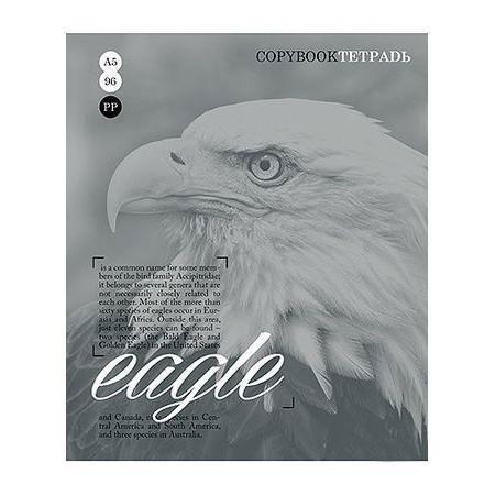 Тетрадь 96л А5ф клетка на скобе серия Тайны природы, цвет: серый Eagle72523WDТетрадь 96л А5ф клетка на скобе серия Тайны природы, цвет: серый Eagle