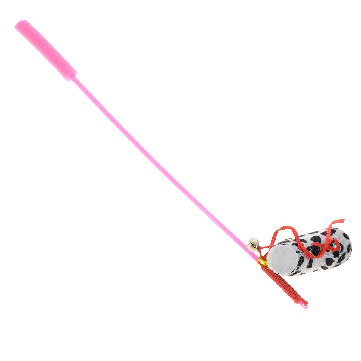 Дразнилка-удочка для кошек V.I.Pet Ботинок, с колокольчиком, цвет: розовый, белый, черный25916/641165Дразнилка-удочка для кошек V.I.Pet Ботинок, изготовленная из текстиля и пластика, прекрасно подойдет для веселых игр вашего пушистого любимца. Играя с этой забавной дразнилкой, маленькие котята развиваются физически, а взрослые кошки и коты поддерживают свой мышечный тонус. Яркая игрушка на конце удочки сразу привлечет внимание вашего любимца, не навредит здоровью и увлечет его на долгое время. Длина удочки: 37 см.Размер игрушки: 8 см х 4 см х 2,5 см.