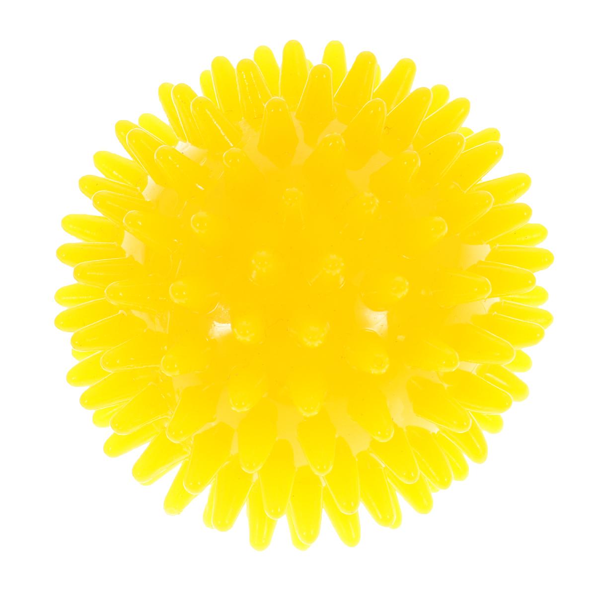 Игрушка для собак V.I.Pet Массажный мяч, цвет: желтый, диаметр 7 см0120710Игрушка для собак V.I.Pet Массажный мяч, изготовленная из ПВХ, предназначена для массажа и самомассажа рефлексогенных зон. Она имеет мягкие закругленные массажные шипы, эффективно массирующие и не травмирующие кожу. Игрушка не позволит скучать вашему питомцу ни дома, ни на улице.Диаметр: 7 см.
