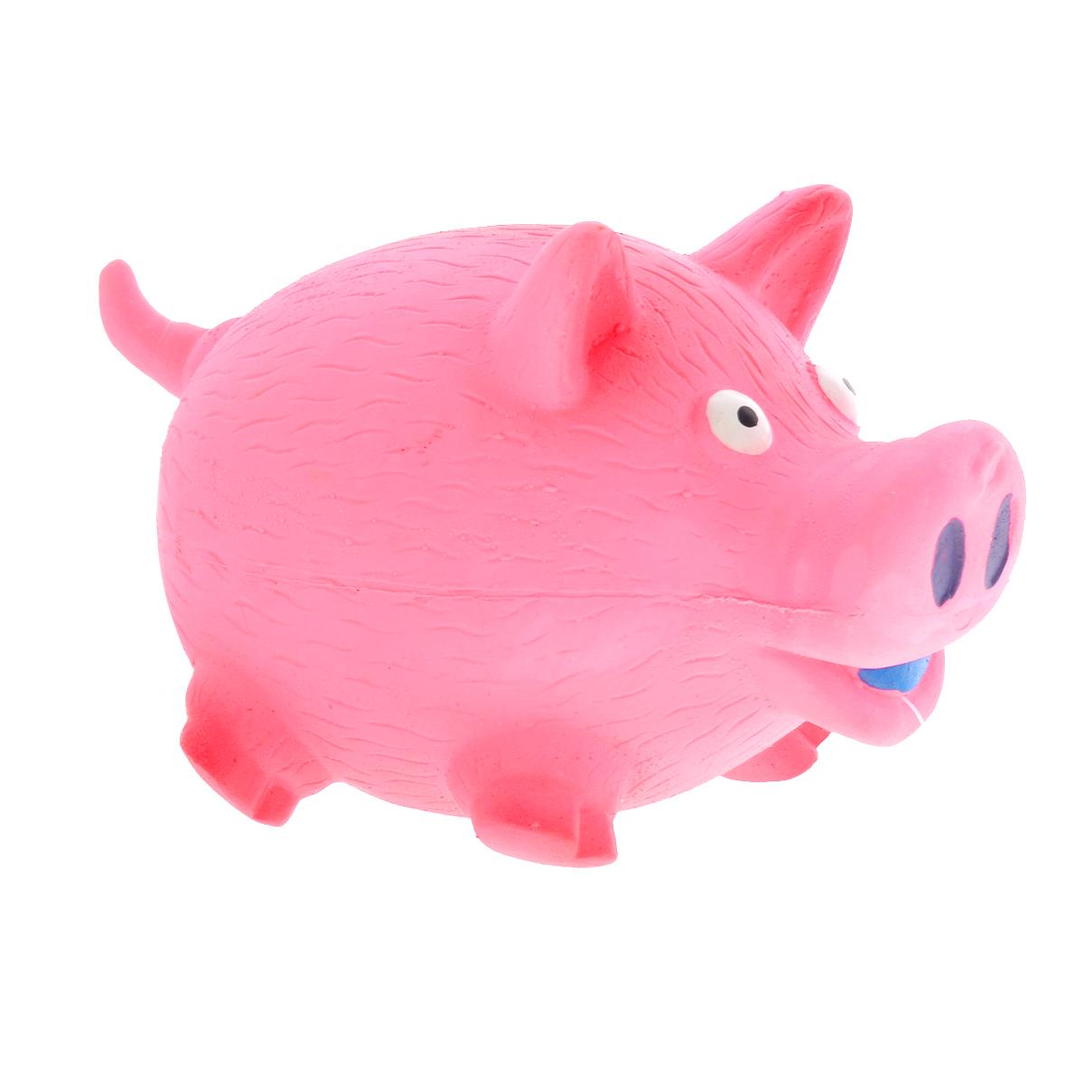 Игрушка для собак V.I.Pet Поросенок, цвет: розовый625524Игрушка V.I.Pet Поросенок изготовлена из латекса с использованием только безопасных, не токсичных красителей. Великолепно подходит для игры и массажа десен вашей собаки.Забавный поросенок при надавливании или захвате пастью пищит. Такая игрушка порадует вашего любимца, а вам доставит массу приятных эмоций, ведь наблюдать за игрой всегда интересно и приятно. Оставшись в одиночестве, ваша собака будет увлеченно играть в эту игрушку.