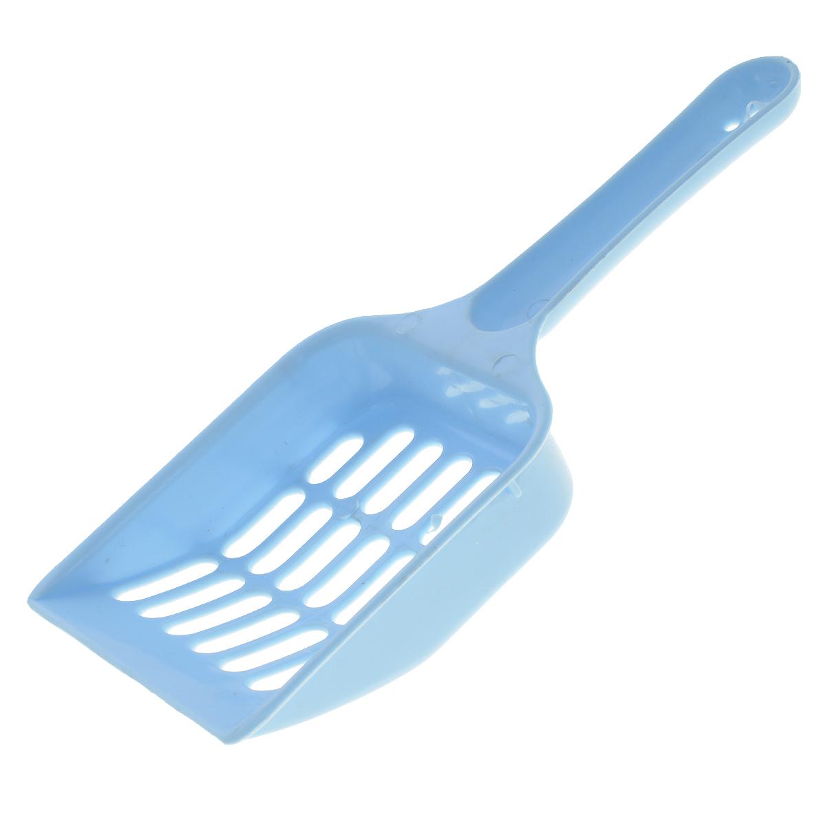 Совок V.I.Pet для кошачьего туалета, цвет: голубой, длина 20 см0120710Совок для кошачьего туалета изготовлен из прочного пластика. Рабочая поверхность совка с крупной сеткой позволяет освободить туалет от образовавшихся комков и просеять наполнитель. На ручке совка есть отверстие для подвешивания на стену. С помощью этого совка вы сможете быстро и качественно убрать туалет кошки. Длина совка: 20 см.Размер рабочей поверхности совка: 9 см х 9,5 см.