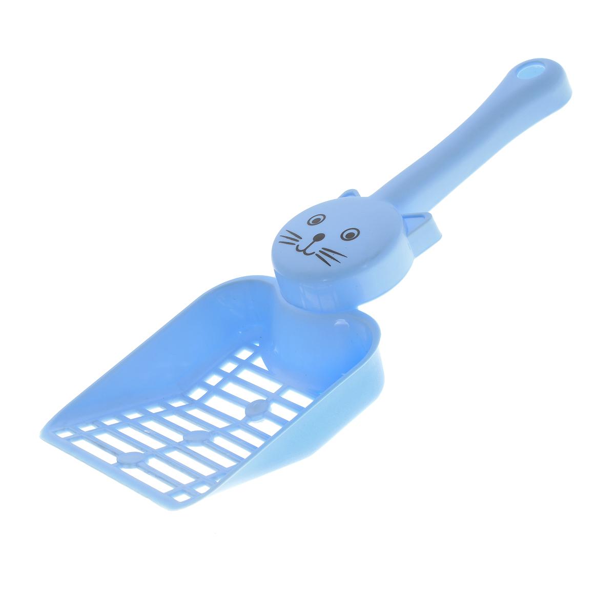Совок для кошачьего туалета, цвет: голубой. P203