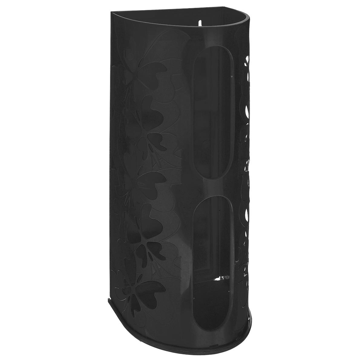 Корзина для пакетов Berossi Fly, цвет: черный, 16 см х 13 см х 37,5 смИК10305Корзина Berossi Fly выполнена из пластика и предназначена для хранения пакетов для продуктов. Изделие декорировано перфорацией в виде бабочек и крепится к стене при помощи трех саморезов (входят в комплект). Корзина легко собирается и разбирается. Имеет два отверстия, из которых удобно вынимать пакеты.Корзина Berossi Fly позволяет хранить пакеты в одном месте. Размер корзины (в собранном виде): 16 см х 13 см х 37,5 см.