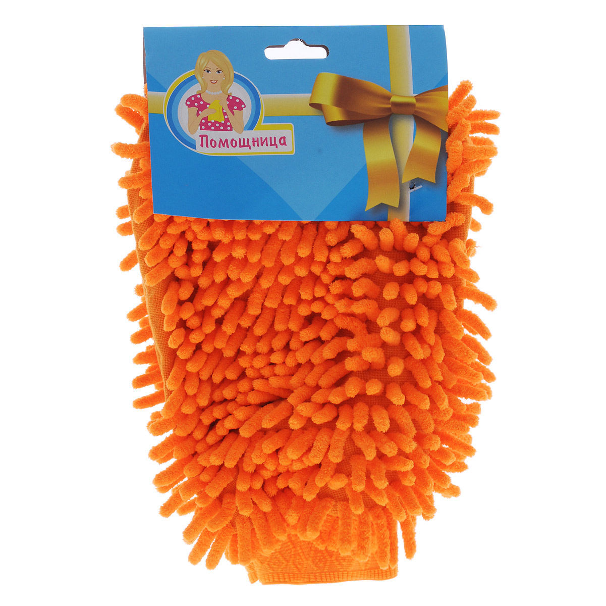 Рукавица для уборки Eva Спагетти, двусторонняя, цвет: оранжевый, 26 см х 19 смVCA-00Двусторонняя рукавица Eva Спагетти, изготовленная из микрофибры (полиэстера, полиамида), легко удаляет пыль, деликатно моет поверхности, мягко удаляет сильные загрязнения, применяется как в сухом, так и во влажном виде. Рукавица удобно держится на руке и великолепно впитывает воду. Идеально подходит для уборки, как в доме, так и в автомобиле.