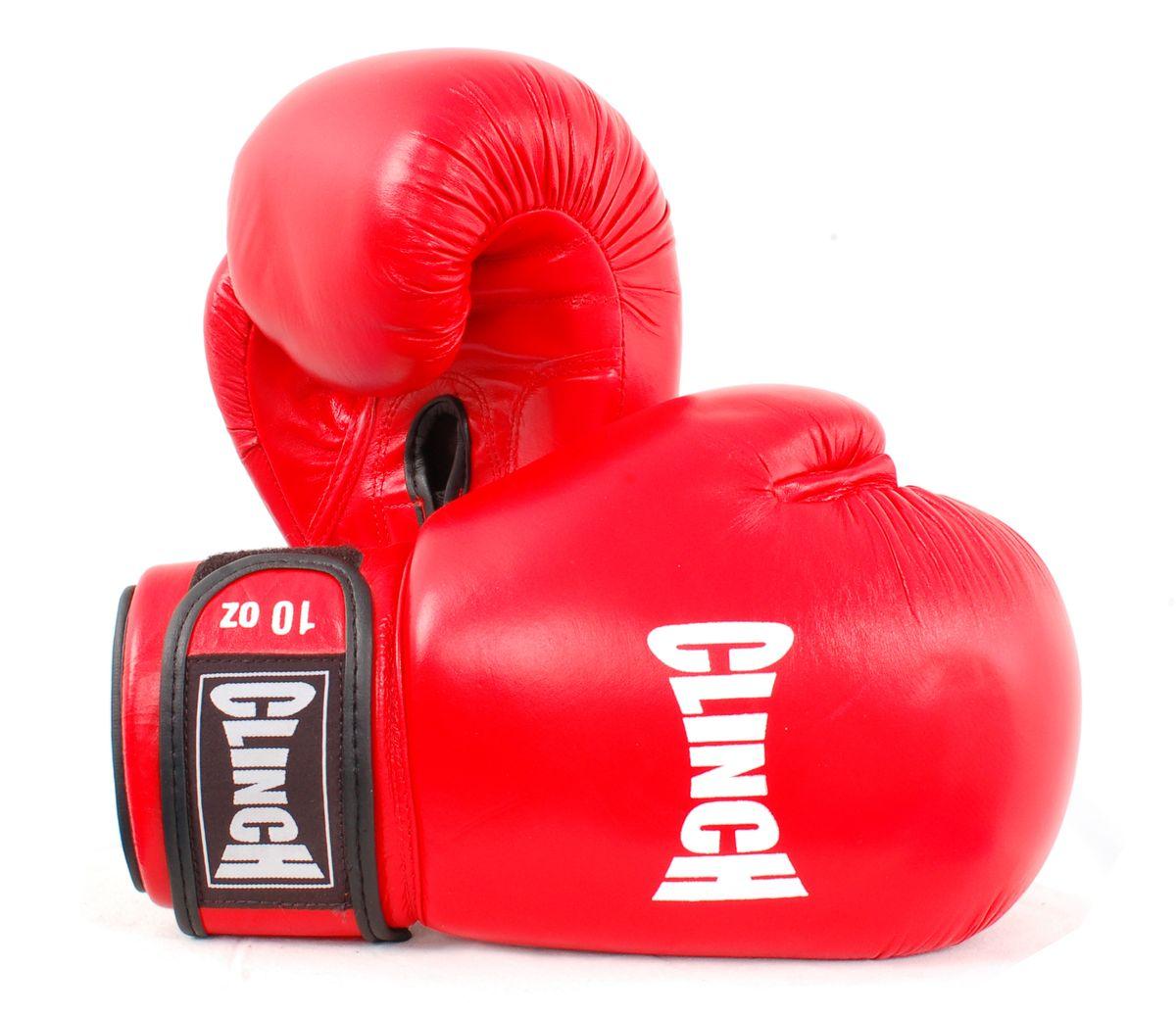 Перчатки боксерские Clinch, цвет: красный, 10 унций. C228CMR-2076Боксерские перчатки Clinch идеально подойдут для соревнований, боев и спаррингов. Перчатки выполнены из высококачественной натуральной кожи с инжекционным литым вкладышем, смягчающим силу удара и дополнительно защищающим руку. На тыльной стороне перчаток предусмотрены отверстия для вентиляции. Большой палец соединен с перчаткой небольшой плотной перемычкой. Перчатки прочно фиксируются на запястье широкой манжетой на липучке, что гарантирует быстроту и удобство одевания.