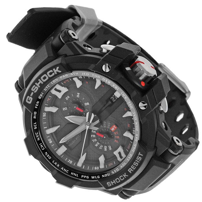 Наручные часы Casio GW-A1000-1ABM8241-01EEЭксклюзивные спортивные часы Casio GW-A1000-1A. Обладают широким функционалом, высокой точностью. Имеют режим энергосбережения, часы переходят в спящий режим, экран гаснет, но все настройки и учет времени сохраняется. Корректировка времени по радиосигналу - сигнал поступает из Германии и Японии,Америки,Китая,на западе постоянно принимается до Ленинградской области, а так же в восточных областях России, расположенных ближе к Японии и Китаю. Ежечасная корректировка точности хода часов каждый час при нахождении минутной стрелки в районе 11 часов. Исключает возможность сдвига стрелок при сильных ударах, вибрациях, влиянии магнитных полей. С помощью встроенного термометра можно подготовить комфортные условия для занятий на улице.
