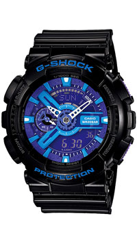 Наручные часы Casio GA-110HC-1ABM8434-58AEЧасы водонепроницаемые и противоударные Casio GA-110.