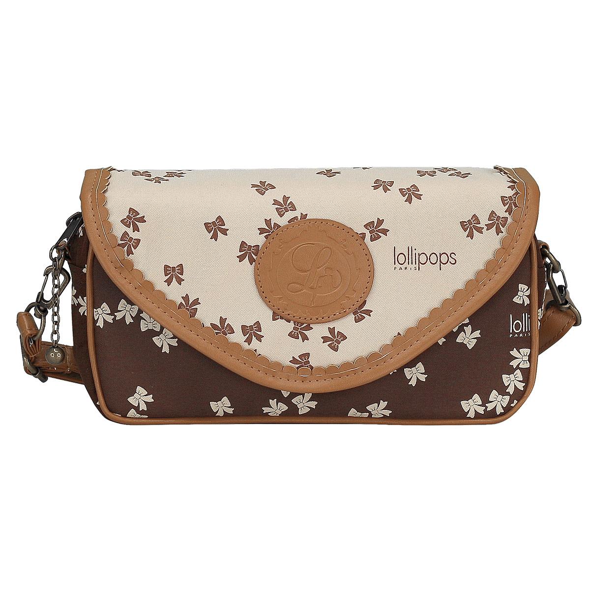 Сумка женская Lollipops, цвет: коричневый, бежевый. LLAB-RT1-560772523WDМини-сумочки остаются одним из самых актуальных трендов, они безупречно дополняют повседневные, вечерние и деловые наряды. Молодежная сумка-клатч - идеальная вещь, чтобы держать все самое важное под рукой и оставаться элегантной. Женская мини-сумочка Lollipops состоит из одного отделения на молнии и дополнительно закрывается клапаном на магнитном замке. Отделка выполнена качественной подкладочной тканью. Лаконичная и компактная форма сумочки делает ее незаменимой деталью вашего образа. В комплект входит регулирующаяся по длине лямка. В отделке изделия гармонично сочетается практичность и изящество, что делает сумку оригинальным аксессуаром. Размеры: 24 х 13 х 6 см.