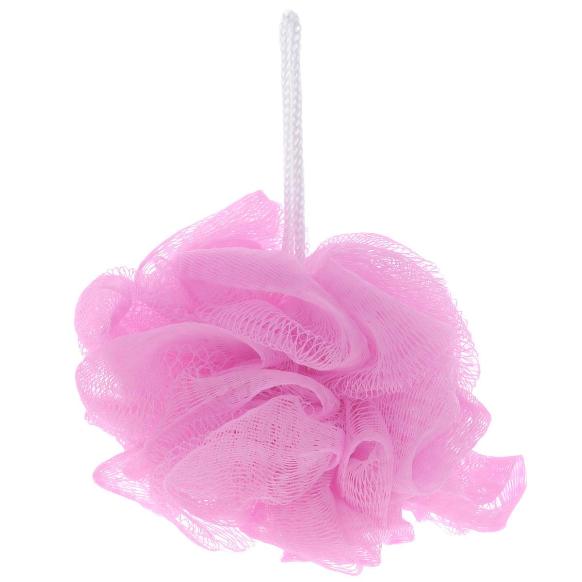 Мочалка The Body Time, цвет: розовый5010777139655Мочалка The Body Time, выполненная из нейлона, предназначена для мягкого очищения кожи. Она станет незаменимым аксессуаром ванной комнаты. Мочалка отлично пенится, обладает легким массажным воздействием, идеально подходит для нежной и чувствительной кожи. На мочалке имеется удобная петля для подвешивания. Диаметр: 10 см.