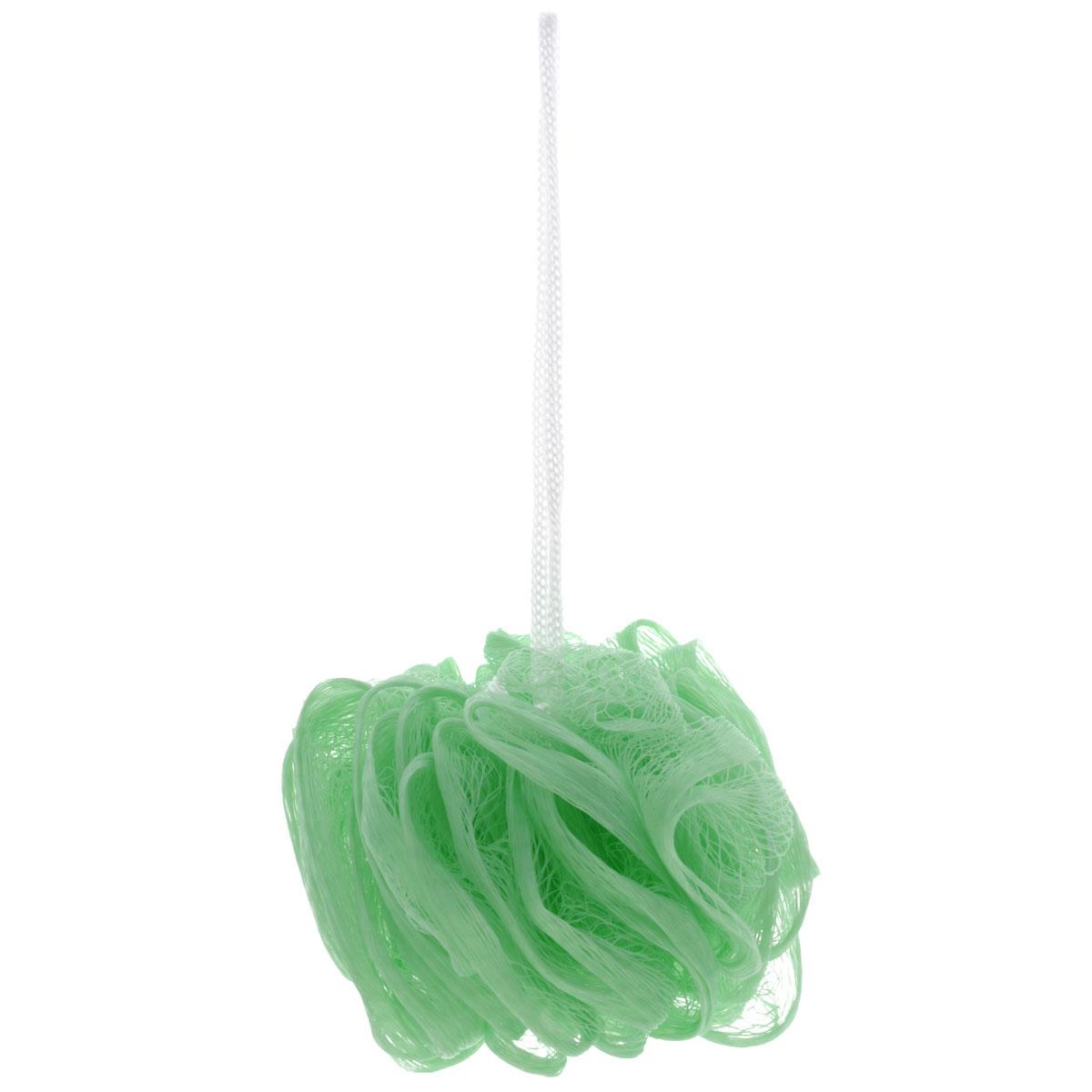 Мочалка Eva Бантик, цвет: салатовыйМС41Мочалка Бантик, выполненная из нейлона, предназначена для мягкого очищения кожи. Она станет незаменимым аксессуаром ванной комнаты. Мочалка отлично пенится, обладает легким массажным воздействием, идеально подходит для нежной и чувствительной кожи. На мочалке имеется удобная петля для подвешивания. Диаметр: 10 см.