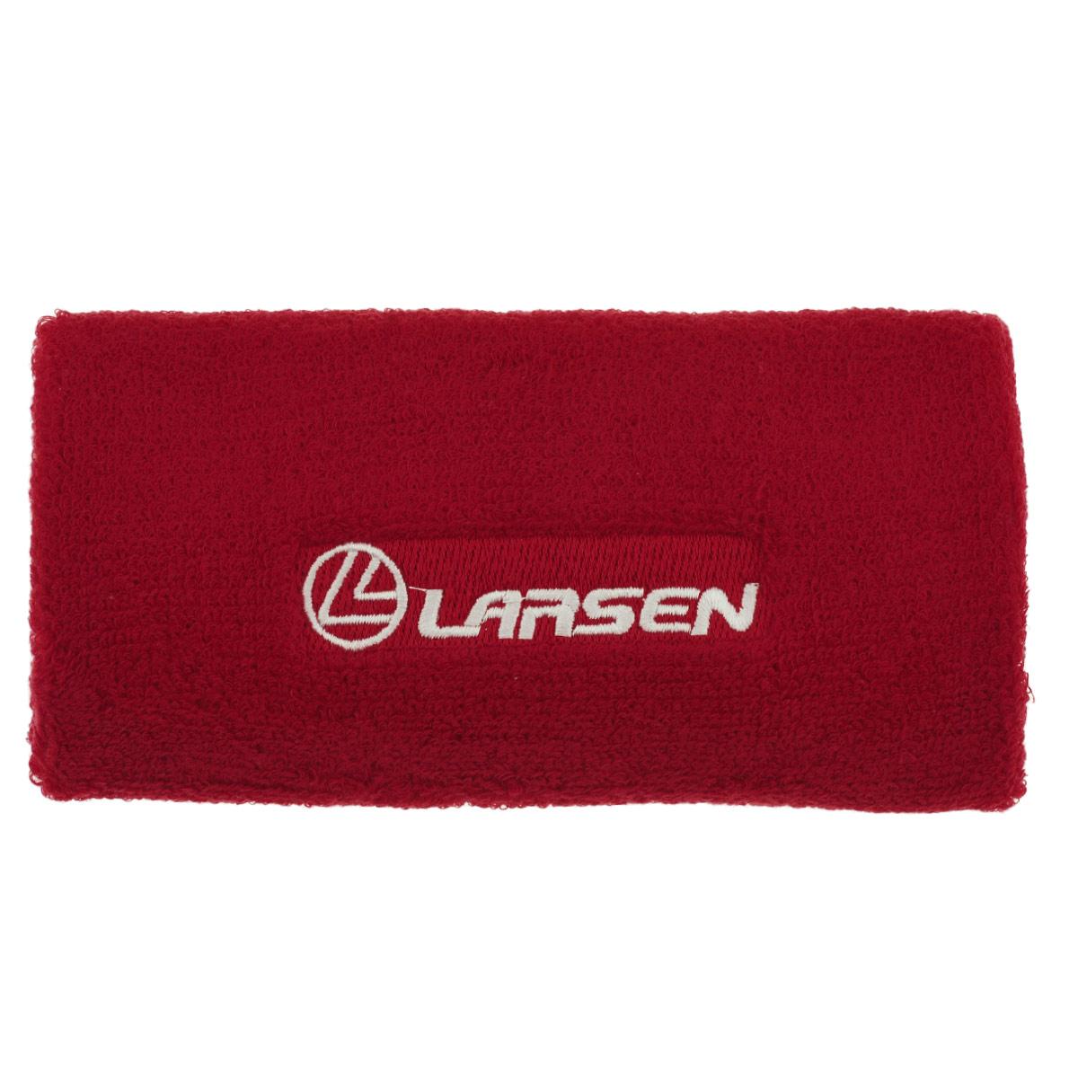Напульсник широкий Larsen, цвет: красный142-8 (142-9)Напульсник Larsen - неотъемлемый аксессуар, который пригодится на занятиях аэробикой, фитнессом и прочих видах спорта. Размер универсален и подойдет каждому. Напульсник выполнен из хлопка с добавлением нейлона и эластана.