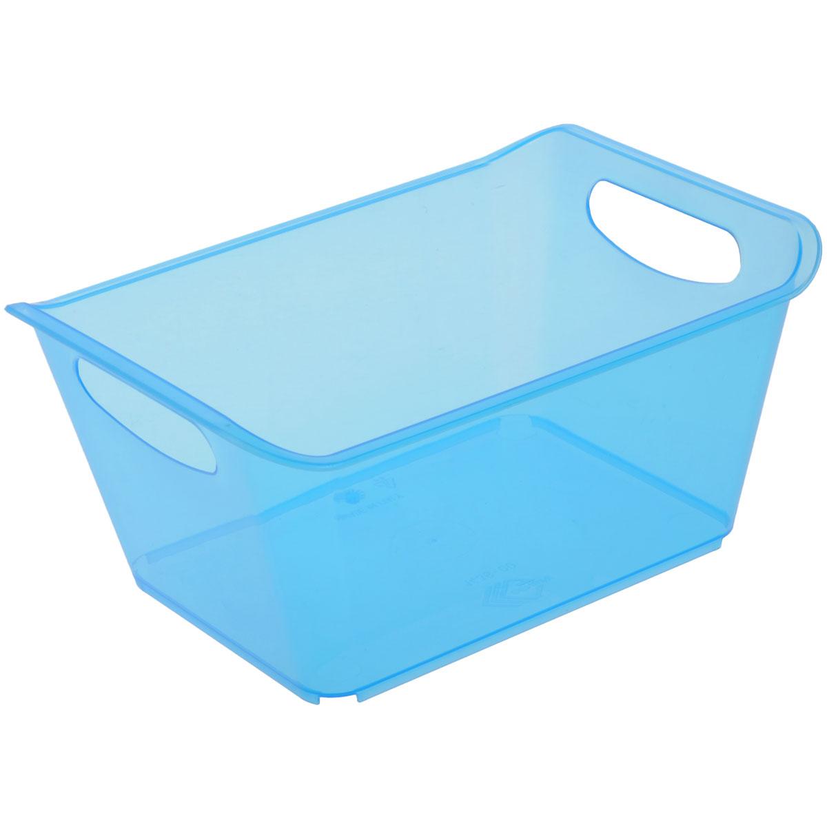Контейнер Gensini, цвет: голубой, 1,5 л1004900000360Контейнер Gensini выполнен из прочного пластика. Он предназначен для хранения различных мелких вещей в ванной, на кухне, даче или гараже, исключая возможность их потери. По бокам контейнера предусмотрены две удобные ручки для его переноски.Контейнер поможет хранить все в одном месте, а также защитить вещи от пыли, грязи и влаги. Объем: 1,5 л.