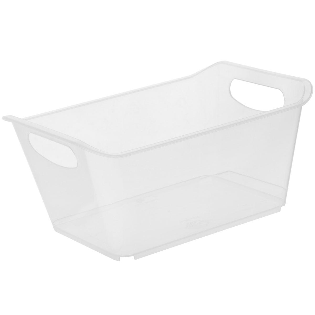 Контейнер Gensini, цвет: прозрачный, 1,5 л12723Контейнер Gensini выполнен из прочного пластика. Он предназначен для хранения различных мелких вещей в ванной, на кухне, даче или гараже, исключая возможность их потери. По бокам контейнера предусмотрены две удобные ручки для его переноски.Контейнер поможет хранить все в одном месте, а также защитить вещи от пыли, грязи и влаги. Объем: 1,5 л.