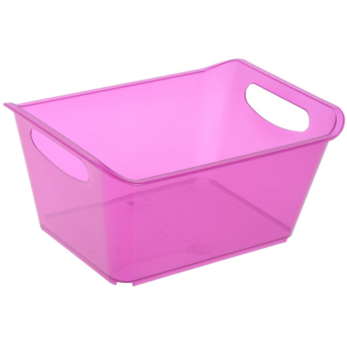 Контейнер Gensini, цвет: сиреневый, 5 л3331Контейнер Gensini выполнен из прочного пластика. Он предназначен для хранения различных мелких вещей в ванной, на кухне, даче или гараже, исключая возможность их потери. По бокам контейнера предусмотрены две удобные ручки для его переноски.Контейнер поможет хранить все в одном месте, а также защитить вещи от пыли, грязи и влаги. Объем: 5 л.