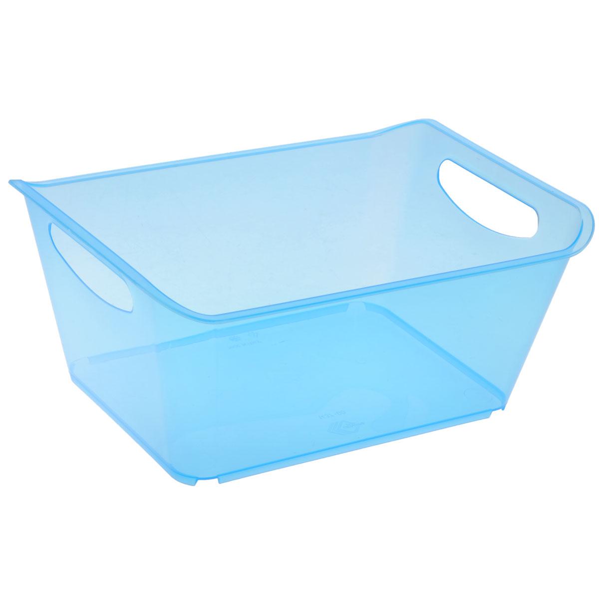 Контейнер Gensini, цвет: голубой, 5 л74-0120Контейнер Gensini выполнен из прочного пластика. Он предназначен для хранения различных мелких вещей в ванной, на кухне, даче или гараже, исключая возможность их потери. По бокам контейнера предусмотрены две удобные ручки для его переноски.Контейнер поможет хранить все в одном месте, а также защитить вещи от пыли, грязи и влаги. Объем: 5 л.