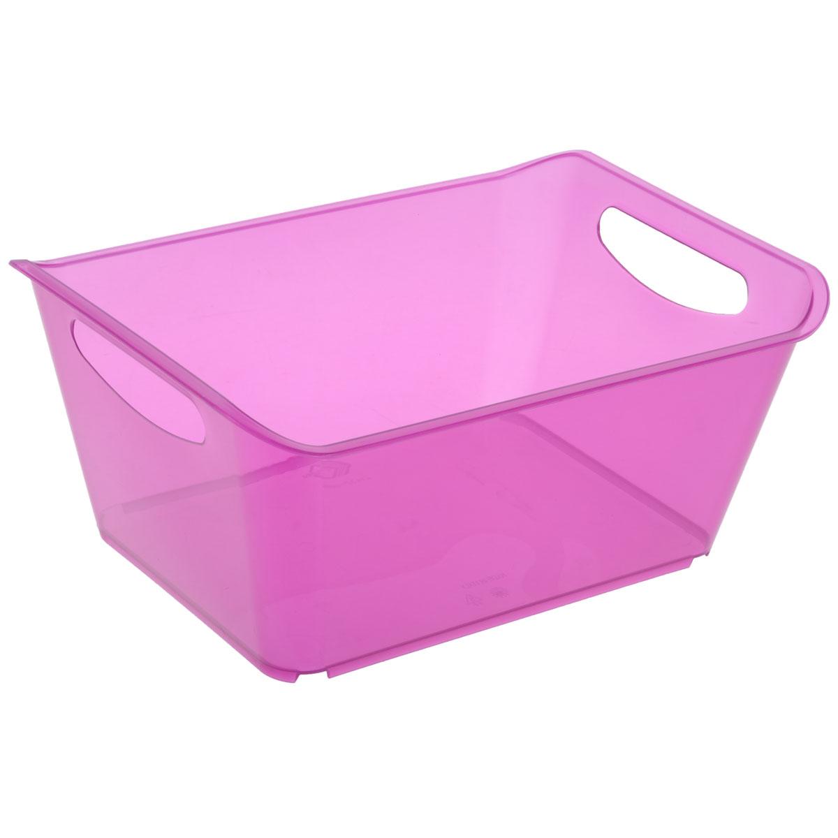 Контейнер Gensini, цвет: сиреневый, 10 лCLP446Контейнер Gensini выполнен из прочного пластика. Он предназначен для хранения различных мелких вещей в ванной, на кухне, даче или гараже, исключая возможность их потери. По бокам контейнера предусмотрены две удобные ручки для его переноски.Контейнер поможет хранить все в одном месте, а также защитить вещи от пыли, грязи и влаги. Объем: 10 л.