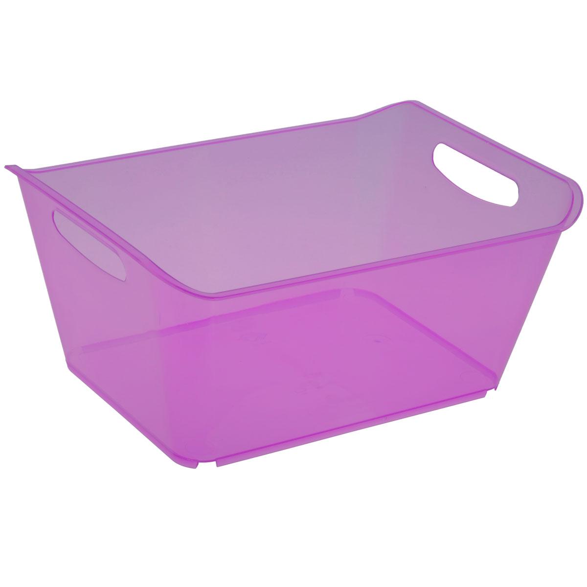 Контейнер Gensini, цвет: сиреневый, 18 лS03301004Контейнер Gensini выполнен из прочного пластика. Он предназначен для хранения различных мелких вещей в ванной, на кухне, даче или гараже, исключая возможность их потери. По бокам контейнера предусмотрены две удобные ручки для его переноски.Контейнер поможет хранить все в одном месте, а также защитить вещи от пыли, грязи и влаги. Объем: 18 л.