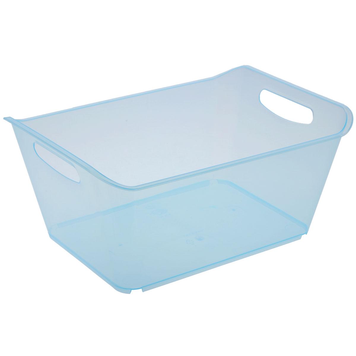 Контейнер Gensini, цвет: голубой, 18 л12723Контейнер Gensini выполнен из прочного пластика. Он предназначен для хранения различных мелких вещей в ванной, на кухне, даче или гараже, исключая возможность их потери. По бокам контейнера предусмотрены две удобные ручки для его переноски.Контейнер поможет хранить все в одном месте, а также защитить вещи от пыли, грязи и влаги. Объем: 18 л.