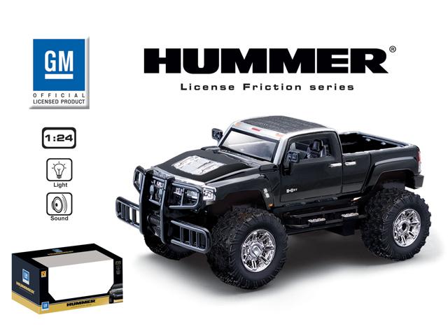 Машина 1:24 HUMMER H3T 866-82444 инерционная, со светом, на батарейках, в коробке машина франческо 1 24