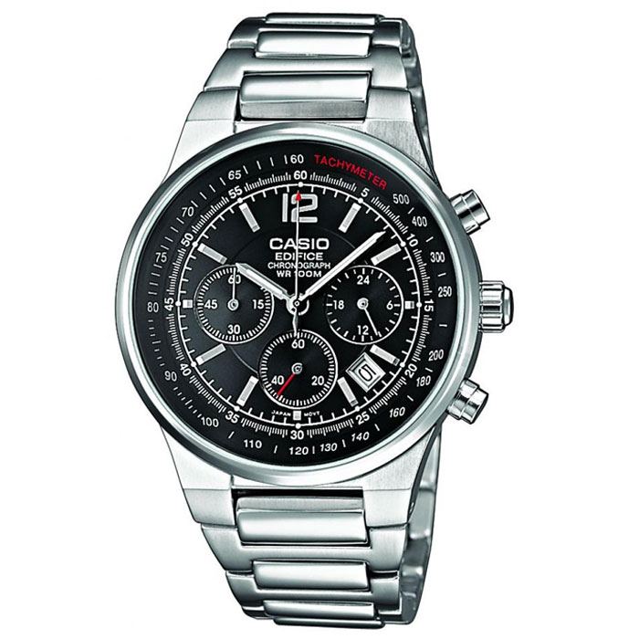 Наручные часы Casio EF-500D-1AVEFBM8434-58AEМужские часы-хронограф Casio EF-500D с секундомером.