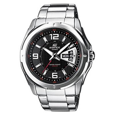 Наручные часы Casio EF-129D-1ABM8434-58AEМужские часы Casio EF-129D-1A.Необритовое покрытие обеспечивает длительное свечение даже после короткого нахождения на светуУказание текущей даты и дня неделиВремя работы от одной батареи до 3 летУстойчивое к царапинам минеральное стекло сферической формыНадёжная застёжка браслетаВодонепроницаемый корпус позволяет плавать и совершать погружения с нырятельной трубкойТочность +/-20 с в месяц