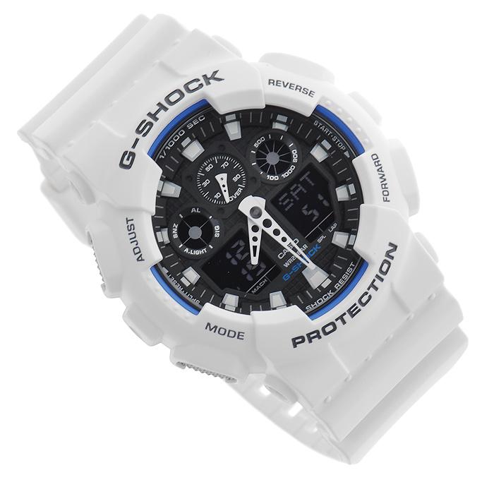 Наручные часы Casio GA-100B-7ABM8434-58AEВодонепроницаемые и противоударные часы Casio GA-100.Длина ремешка с учетом корпуса 24,5 см.Ширина ремешка 2,2 см.Диаметр корпуса 5 см.
