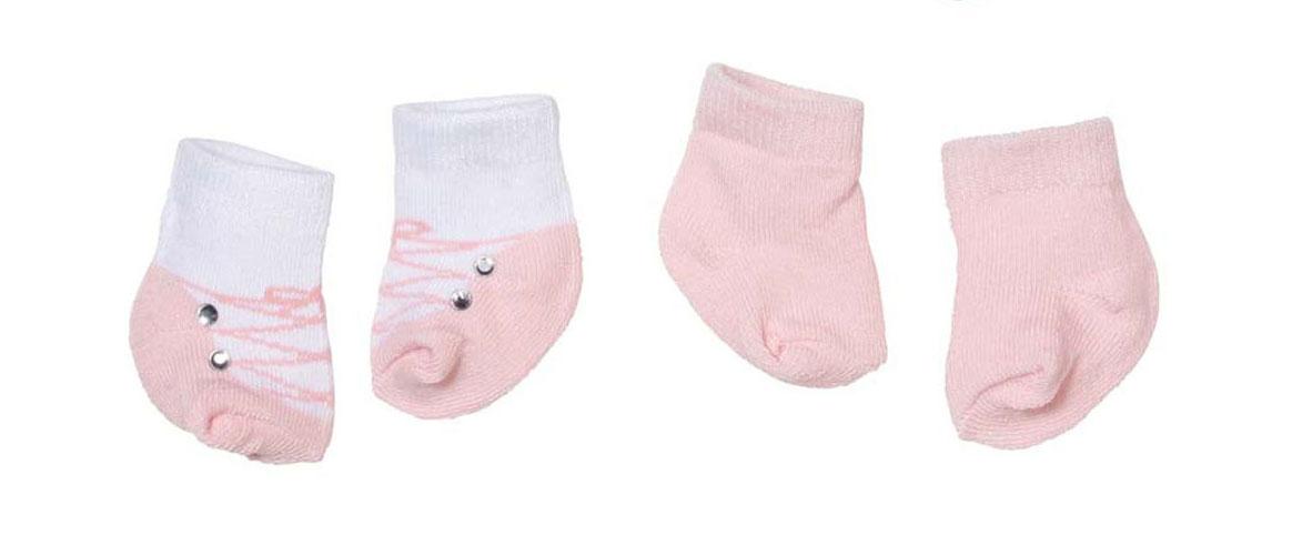 Baby Annabell Одежда для куклы Носки 2 пары цвет розовый белый baby annabell подгузники для куклы baby annabell
