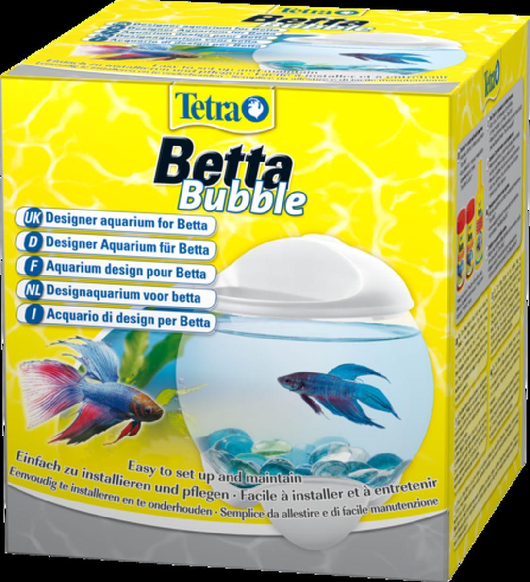 Аквариум-шар для петушков Tetra  Betta Bubble  с освещением, цвет: белый, 1,8 л