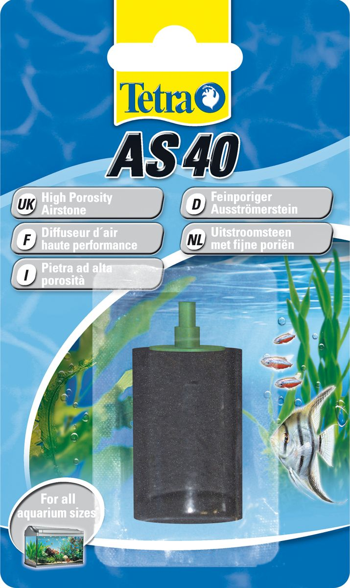 Воздушный распылитель Tetra AS 40603561Воздушный распылитель Tetra AS 40 - это мелкопористый распылитель для оптимального обеспечения аквариума кислородом. Сочетается с воздушным компрессором Tetra APS.Равномерное распределение кислорода в воде в виде мелких пузырьков;позволяет обеспечить полное использование возможностей компрессора;высокое качество изготовления обеспечивает долгую эксплуатацию;идеально подходит к воздушному компрессору Tetra APS.