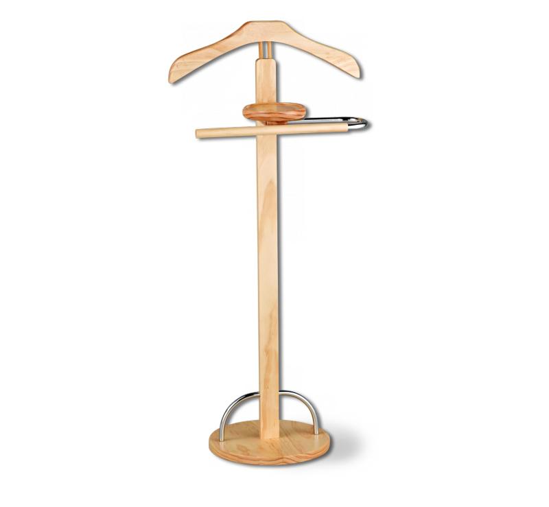 Вешалка напольная Sheffilton, цвет: светлый орех, 45 см х 30 см х 100 смFS-91909Напольная вешалка Sheffilton - прекрасное решение для хранения деловых костюмов. Каркас выполнен из натурального каучукового дерева и металла. Имеются плечики для пиджака, перекладина для брюк и подставка для аксессуаров. Устойчивое основание круглой формы позволяет вешалке не заваливаться под тяжестью одежды. Изделие полностью разборное, упаковано в плоскую картонную коробку.Максимальная нагрузка на плечики: 4 кг. Максимальная нагрузка на перекладину: 2 кг.